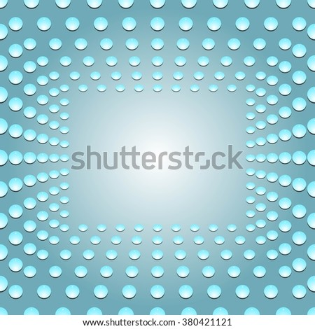 Water bubbles. Water drops on glass. Blue Light Abstract  Seamless  background geometrical ornament pattern with water drops. For greeting card, presentation, card, flyer.  Vector illustration. - stock vector
