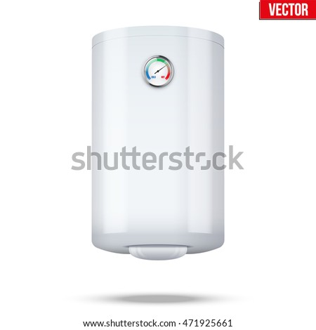 Water classic heater Boiler. Home appliances for comfort. Editable Vector Illustration isolated on white background.