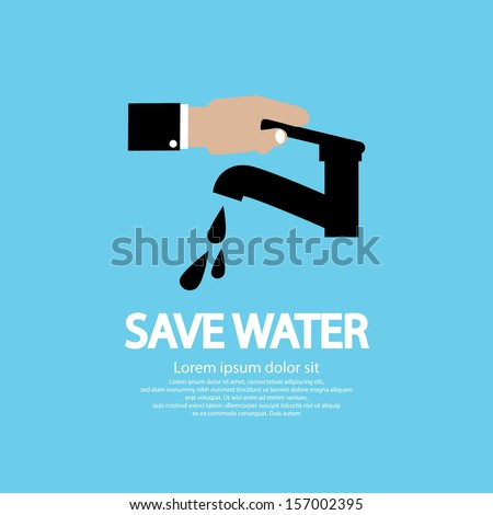 Water Conservation Illustration Conceptual Vector EPS10 - stock vector