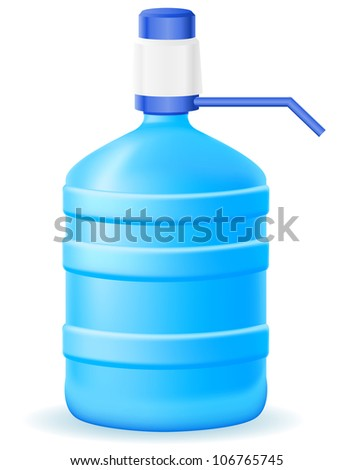 water cooler vector illustration isolated on white background - stock vector