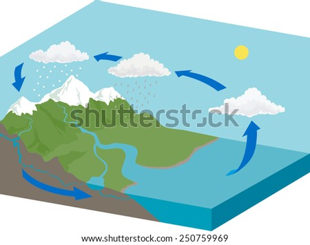 water cycle stock photos  royalty free images  amp  vectors   shutterstockwater cycle diagram