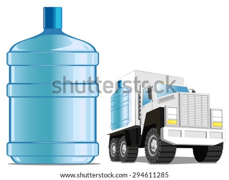water delivery service. vector illustration - stock vector
