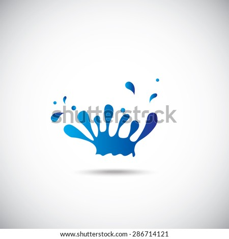 Water design elements. Water icon on the gray background. - stock vector