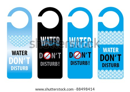 water do not disturb door knob or hanger sign, thailand