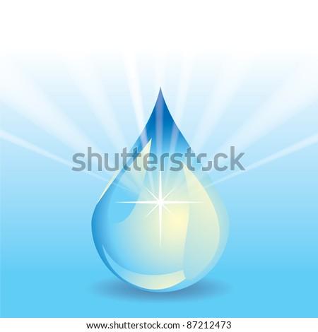Water drop - stock vector
