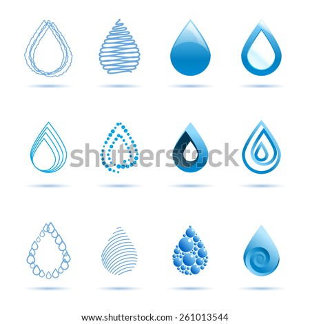 Water Droplet Template. droplet office templates. set water drop ...
