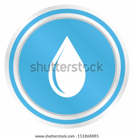 Water drop (Elegance plus, blue version) - stock vector