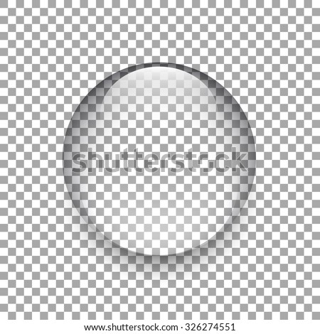 Water drop. Glass sphere. Bubble. Glass ball. Realistic vector. Vector illustration. - stock vector