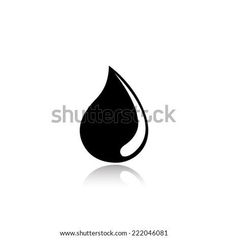 Water Drop Icon Eps10 Vector Eps Stock Vector 430029514 ...