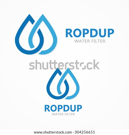 Water drop icon or logo