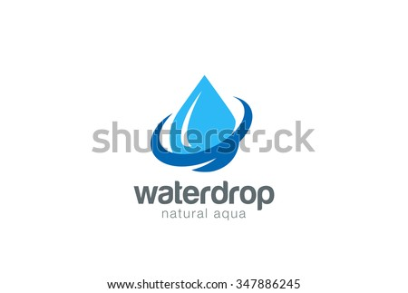 Water drop Logo design vector template. Natural Mineral Aqua icon. Waterdrop liquid Oil Logotype concept icon. - stock vector