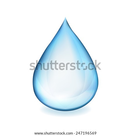 Water Drop Symbol With Gradient Mesh, Vector Illustration - stock vector