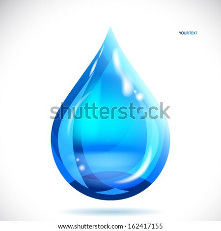 Water drop - vector illustration. - stock vector