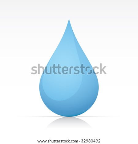 Water Drop. Vector in Adobe Illustrator EPS for multiple applications. - stock vector