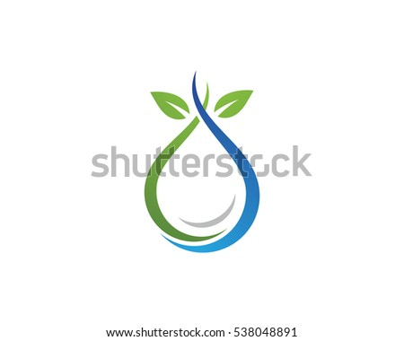 Water Droplet Element Icons Business Logo Stock Vector 538048891