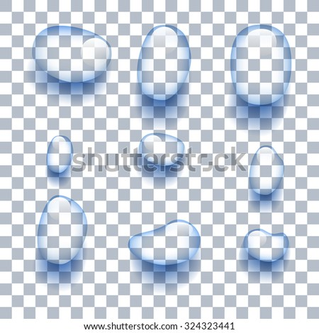 Water droplets on the background. Vector illustration - stock vector
