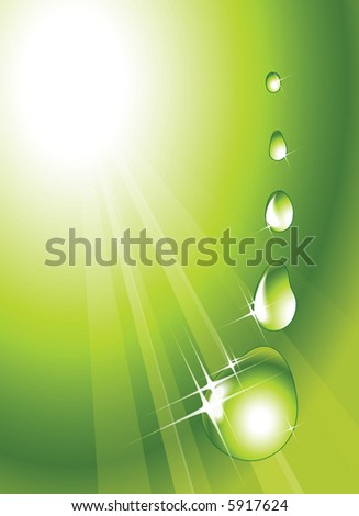 Water drops - abstract background - stock vector