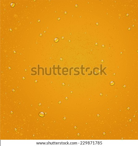 water drops on beer background vector - stock vector