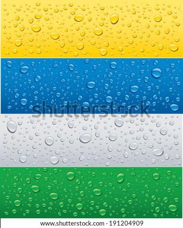 water drops on different color backgrounds - stock vector