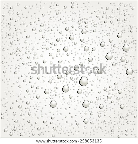 Water drops on glass. - stock vector