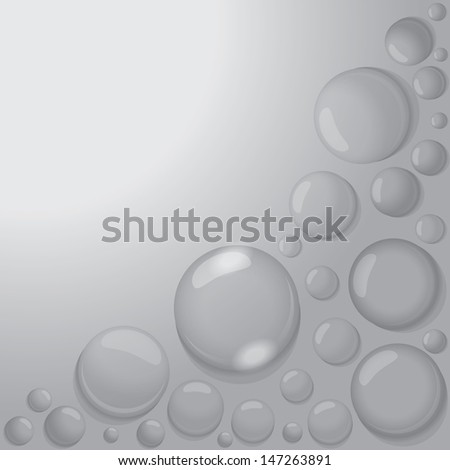 water drops on gray background vector - stock vector