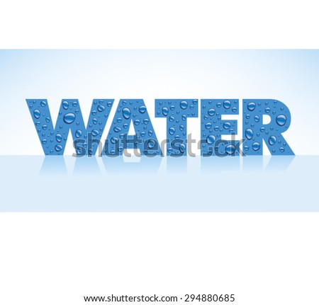 water drops on grey background with place for text - stock vector