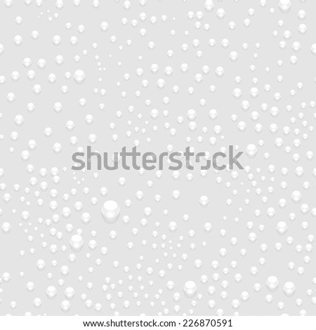 Water Drops Seamless Pattern Background. Vector Illustration - stock vector