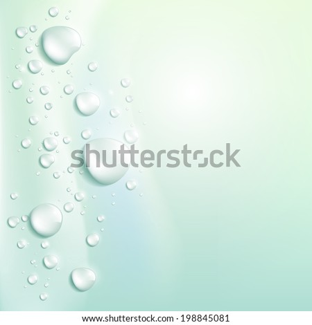 water drops vector background  - stock vector