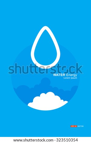 Water Energy Agent Meaning Symbols Logos Stock Vector 323510354
