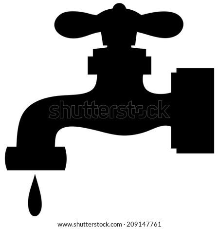 Water Faucet Leak Stock Vector 209147761 - Shutterstock