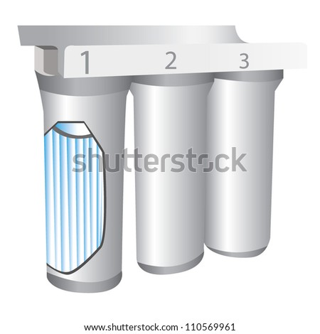 water filter - stock vector