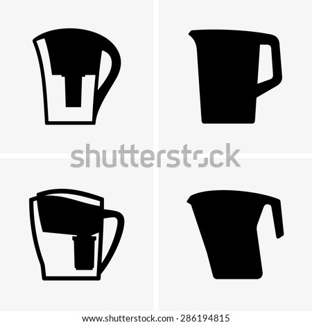 Water filters - stock vector