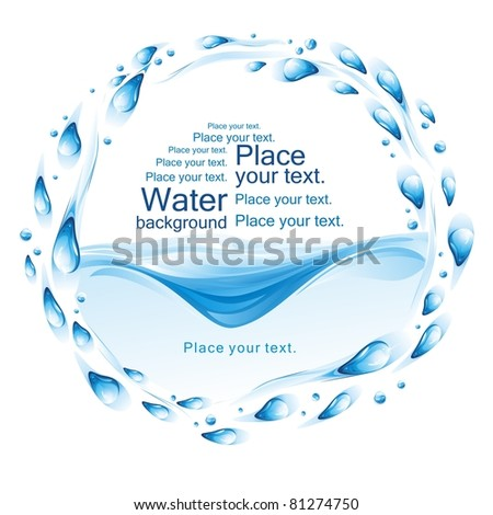 Water frame. (vector illustration) - stock vector
