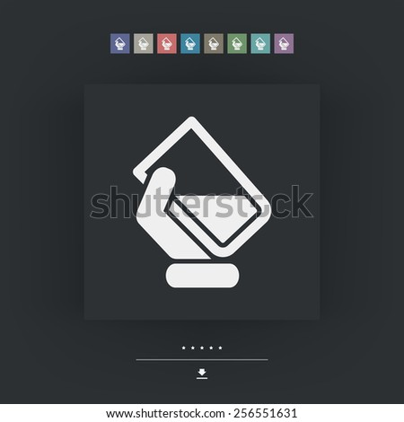 Water glass icon - stock vector
