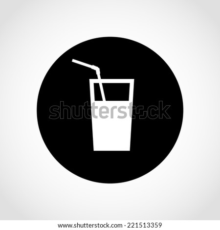 Water Icon Isolated on White Background - stock vector