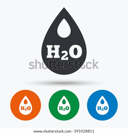 Water icon. Water flat symbol. Water art illustration. Water flat sign. Water graphic icon. Flat icons in circles. Round buttons for web. - stock vector