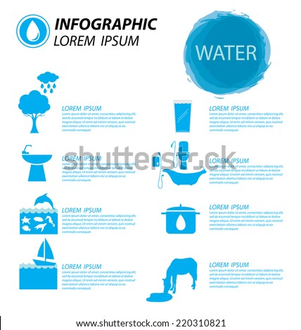 water infographics - stock vector