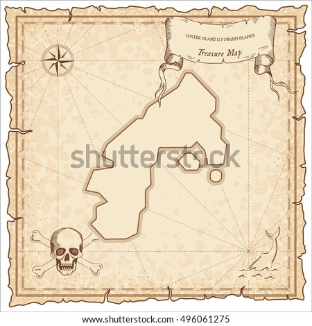 Lanzarote Old Pirate Map Sepia Engraved Stock Vector - Parchment paper map of us