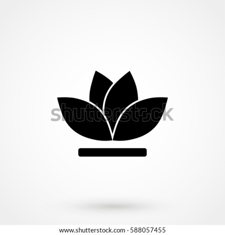 lily icon stock vectors, images  vector art  shutterstock, Beautiful flower