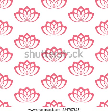 Water Lily. Pattern - stock vector