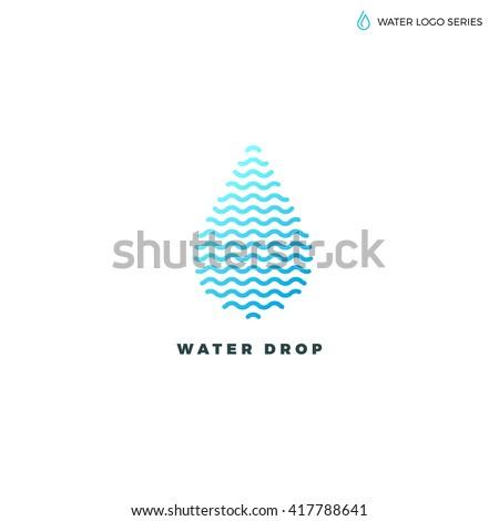 Water logo. Blue water logo. Water best logo. Aqua logo. Bright water logo. Eco logo. Environment logo. Natural logo. Water energy logo. Alternative energy logo. - stock vector