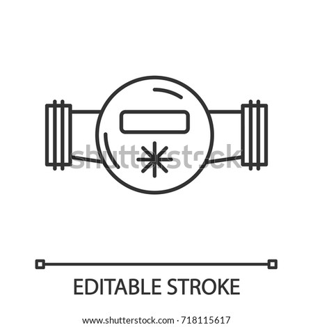 Water Meter Linear Icon Thin Line Stock Vector (2018) 718115617 ...