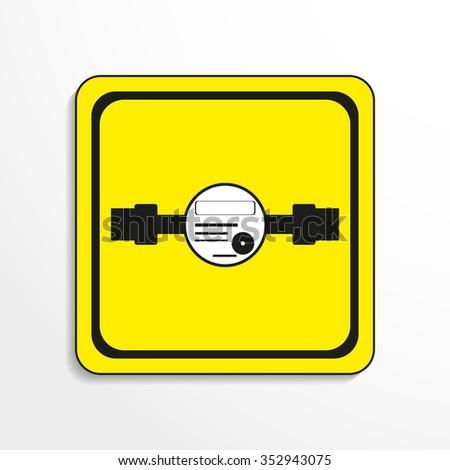 Water meter. Vector icon. - stock vector