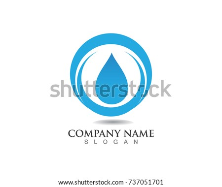 Water Nature Logo Symbols Template Icons Stock Vector 737051701