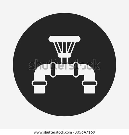 Water pipe icon - stock vector
