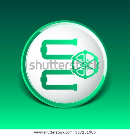 Water Pipeline Business  icon vector button logo symbol concept. - stock vector