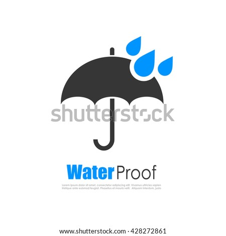 Water proof logo vector illustration isolated on white background - stock vector