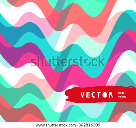 Water retro color seamless pattern  - stock vector