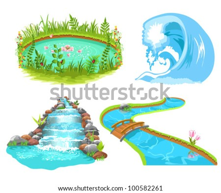 water set - stock vector