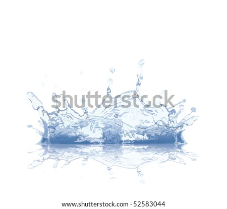 water splash - stock vector